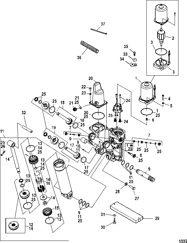 bl marine 225 pro xs (3 0l dfi) 1b752547 \u0026 up 0 power trimMercury Outboard 0c100861 Thru 0c291519 Flywheelstarter Motor Diagram #18