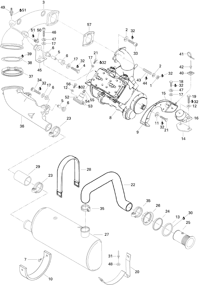 MELBOURNE SEADOO - XP, 5859 1996 - Exhaust System