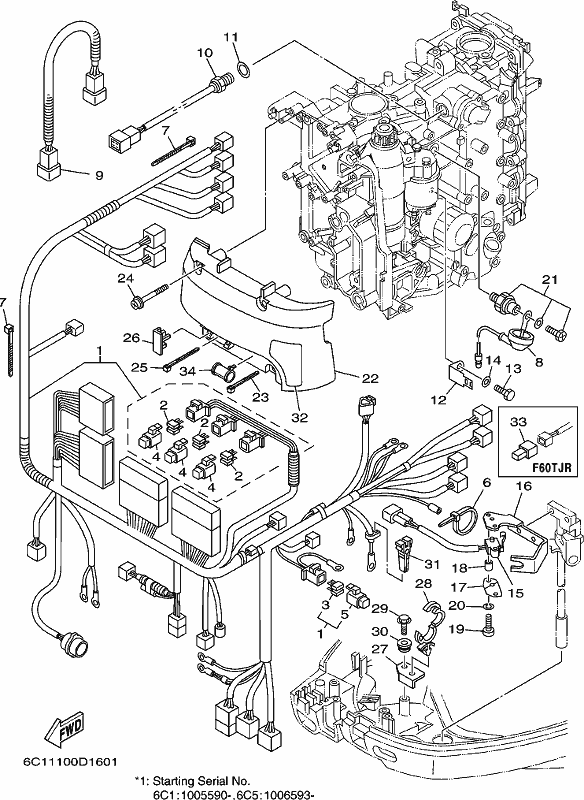 power trim tilt motor and wire harness kit with Electrical 3 on Omc Throttle Control Box Wiring Diagram as well Qm50qt H Wiring Wiring Diagram 2005 likewise Partslist additionally 4 3 Mercruiser Wiring Harness also Gauges.
