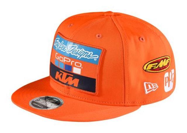 97316dc3f48 KTM TLD Team Hat New Era 9Fifty trucker snapback hat. Official Team TLD KTM  front patch