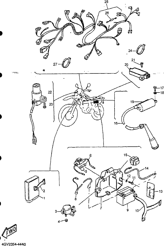 City West Yamaha - TT600 (TT600 BELGARDA EL START) 1996 ... Yamaha Tt Wiring Diagram on