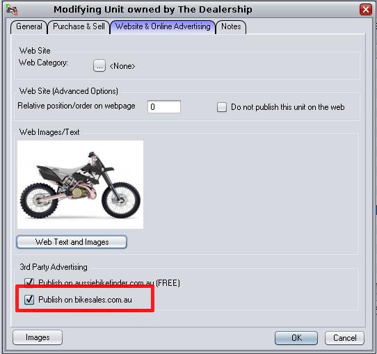 Bikesales.com.au add a unit onto bikesales