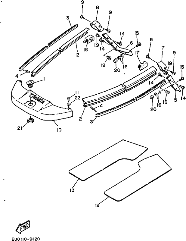 diptech performance wr650 wave runner lx 1992 gunwale mat Handgun Nomenclature Diagram please
